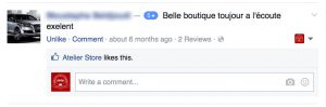 Avis facebook atelier store