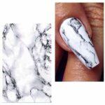 Paolina Nails nail art mable marbre