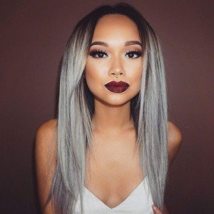 hair gray ombre tie and dye