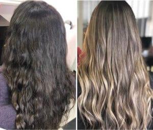 Balayage Ombre Hair beige avant apres atelier store avis