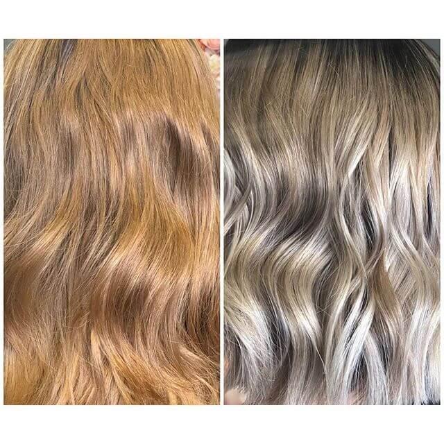 avant apres coiffure tie and dye